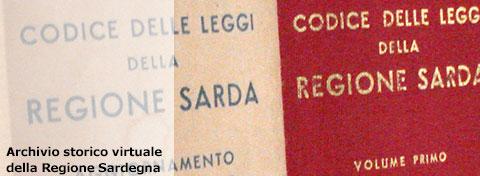 Copertina del primo volume del Codice delle leggi della Regione Sardegna