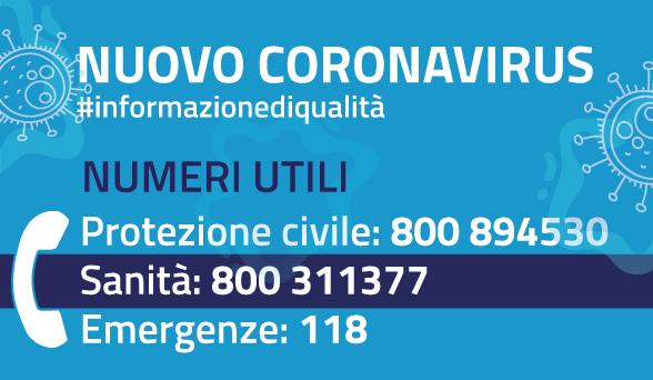 coronavirus numeri utili