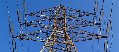 Energia elettrica traliccio cavi